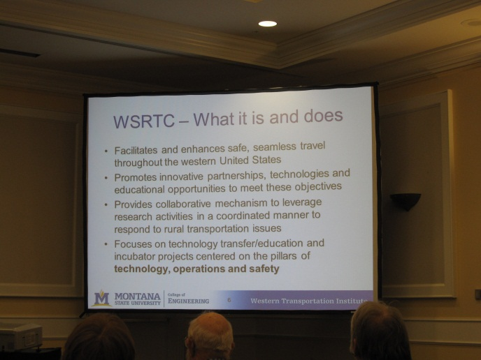Screenshot from the WSRTC presentation at the Northwest Transportation Conference.
